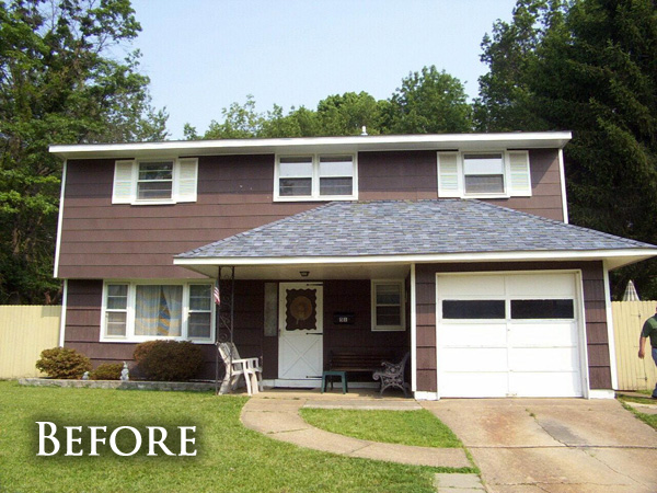 Shake siding replacement before