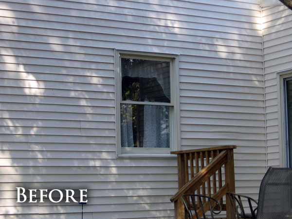 Small bay window before