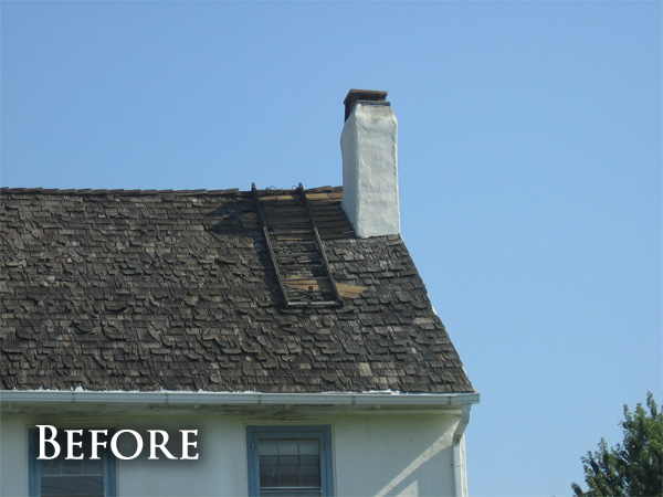 Shake roof replacement before