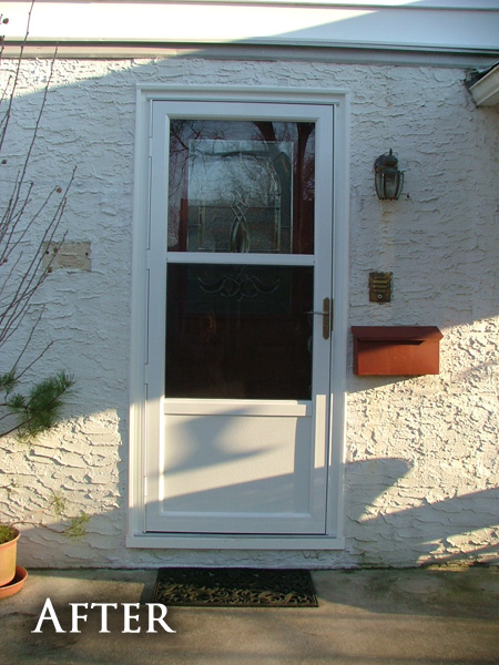 Patio storm door after