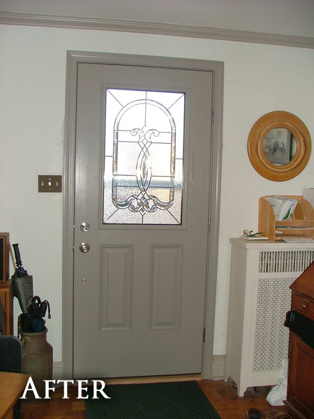 Rounded door after