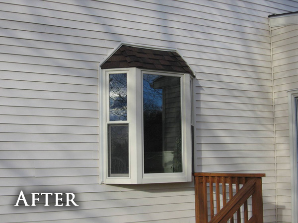 Small bay window after
