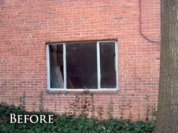 Large brick window before