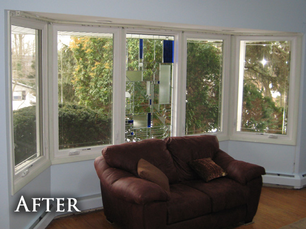 Old bay windows after