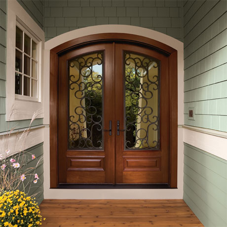 Home depot double doors pj fitzpatrick for Home depot exterior door installation
