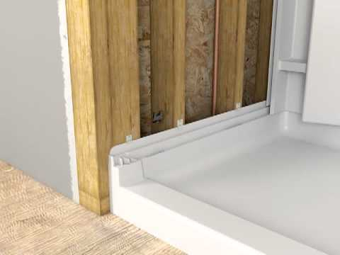 install a shower base
