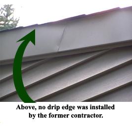 No drip edge