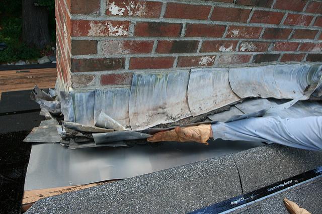 Roof Flashing Water Damage