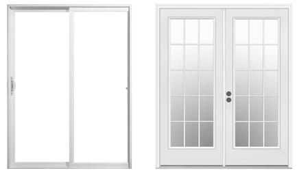 glass patio door
