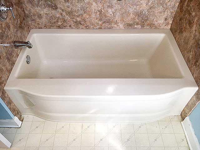 Pink bath after