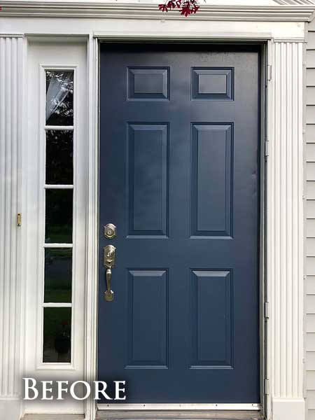 Older blue door