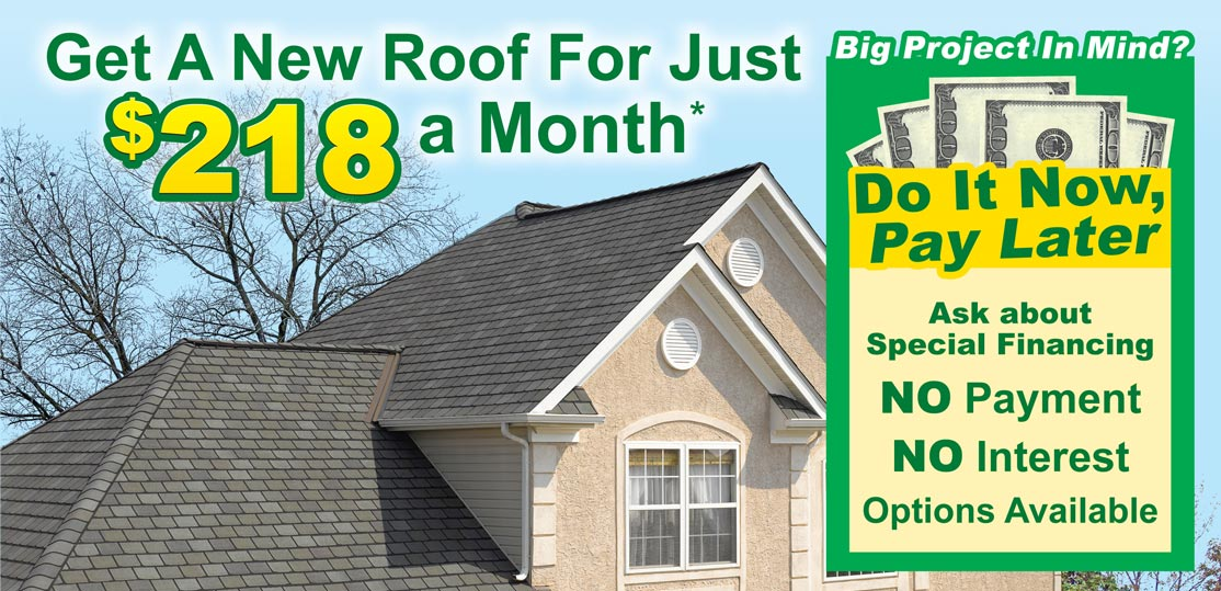 Special Roofing Financing