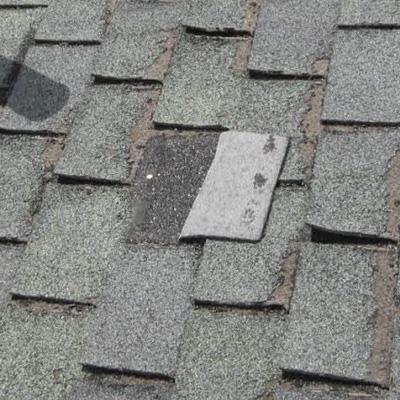 Missing Shingles Cause Roof Leak