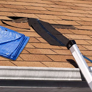 How to Tarp a Roof Without Nails