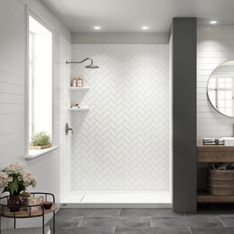 Barrier Free and Low-Threshold Shower Installation